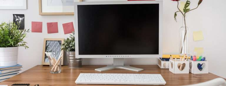 a clean and tidy desk