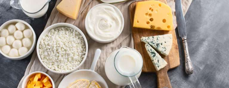 a selection of dairy products that some are intolerant to