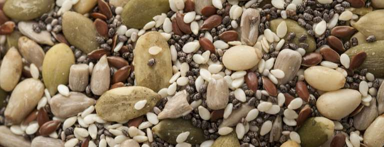 chia seed and nut trail mix