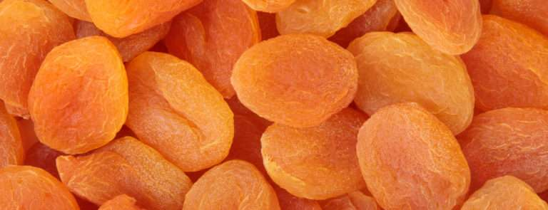 An array of dried apricots.