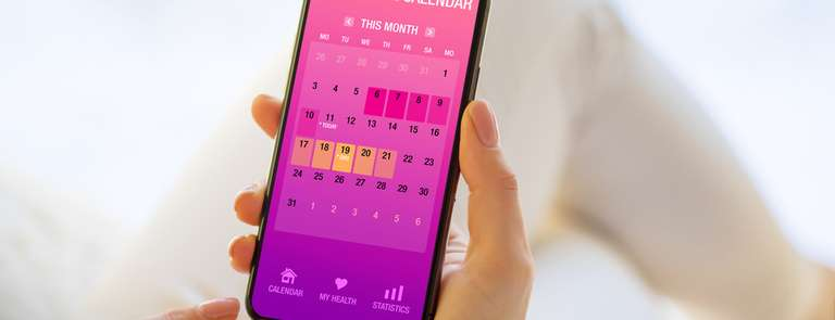 tracking menstrual cycle on phone