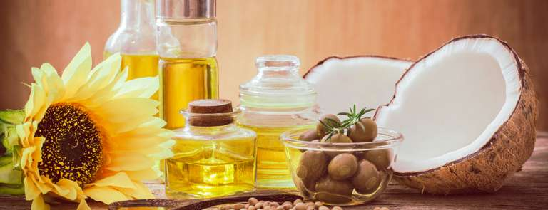 various types of cooking oils on table
