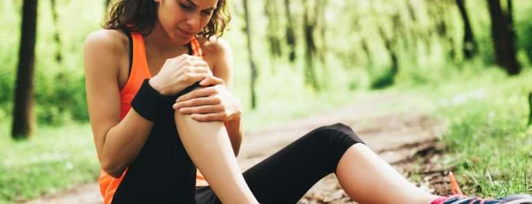 Woman suffering from joint pain