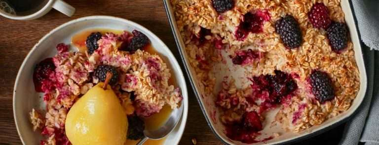 Holland and Barrett Blackberry Oatmeal with Pear