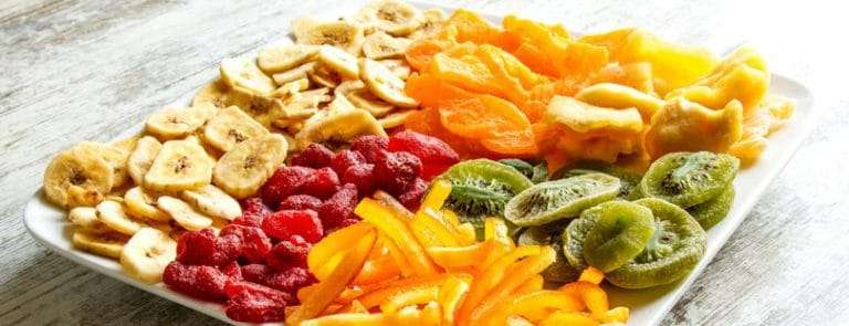 A Plate Of Various Dried Fruits