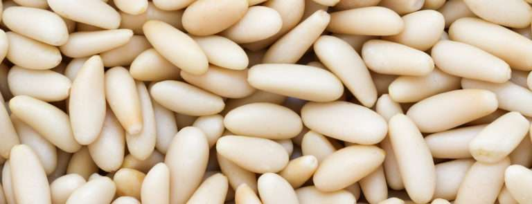 An array of pine nuts.
