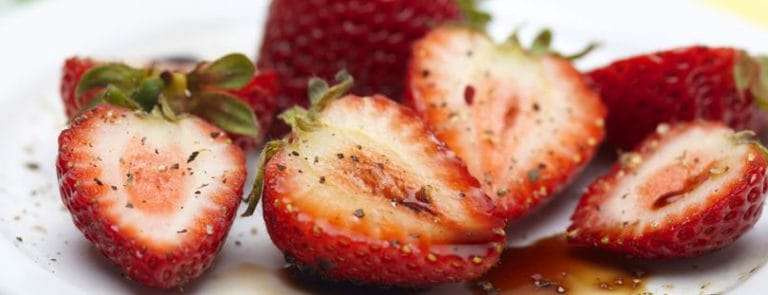 Strawberries With A Vinegar Dressing