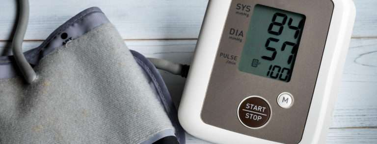 a low blood pressure reading