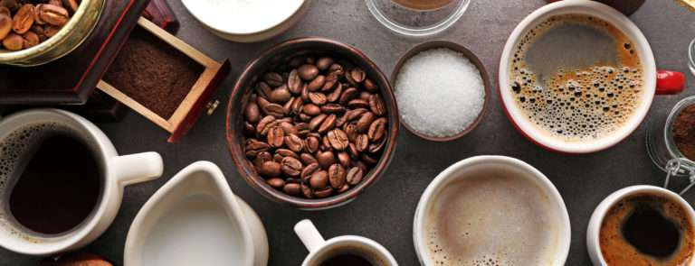 different types of coffee and foods caffeine levels
